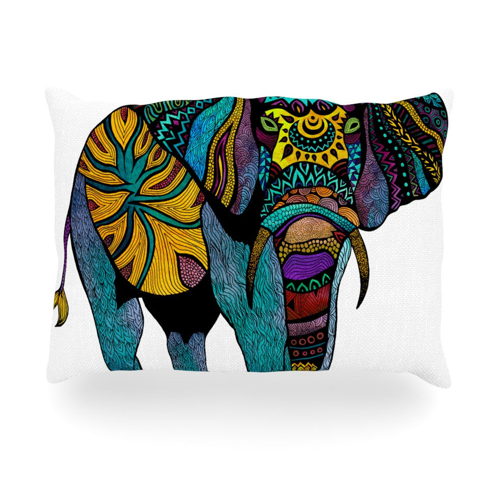 "Pom Graphic Design ""Elephant of Namibia"" Oblong Pillow - KESS InHouse"