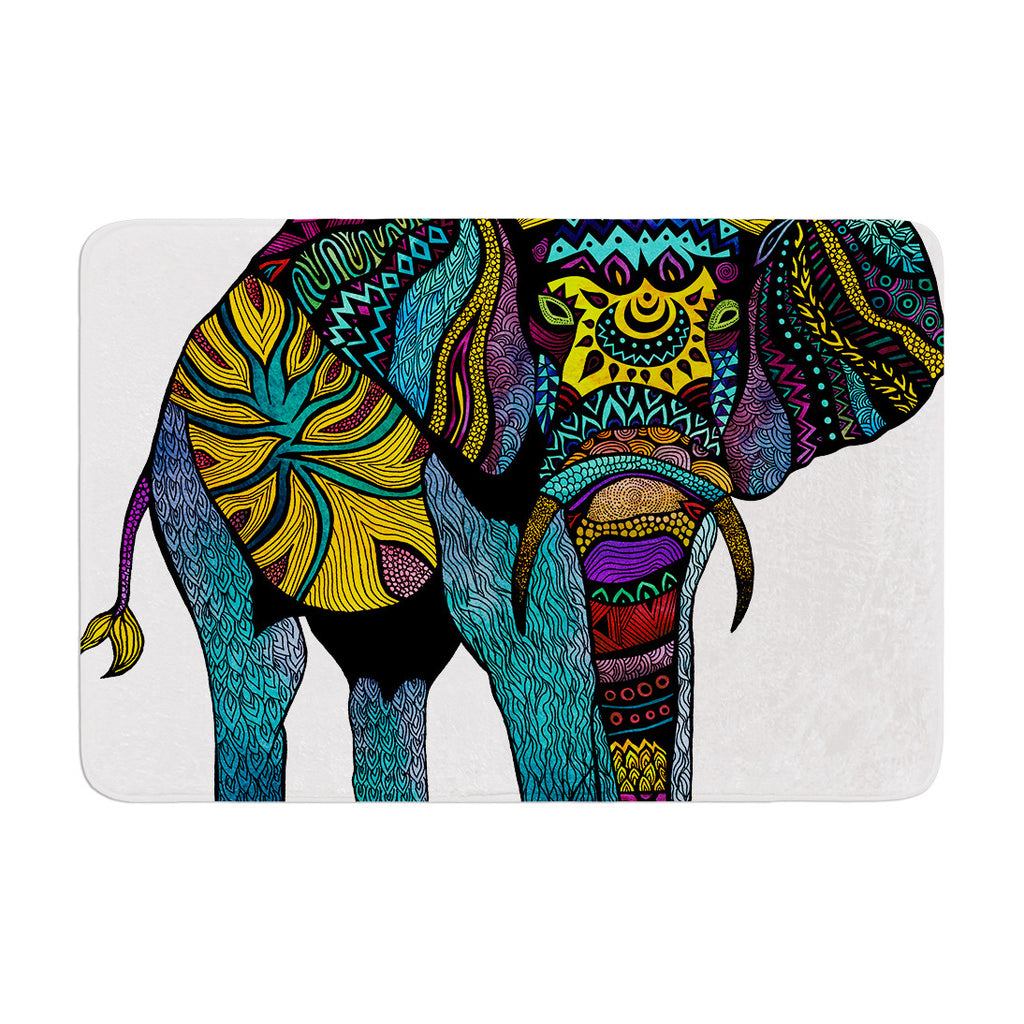 "Pom Graphic Design ""Elephant of Namibia"" Memory Foam Bath Mat - KESS InHouse"