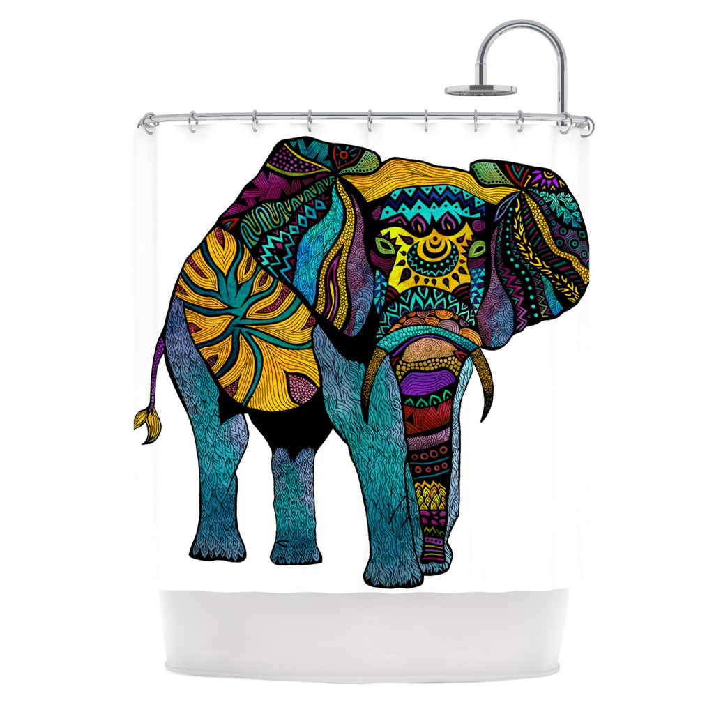 "Pom Graphic Design ""Elephant of Namibia"" Shower Curtain - KESS InHouse"