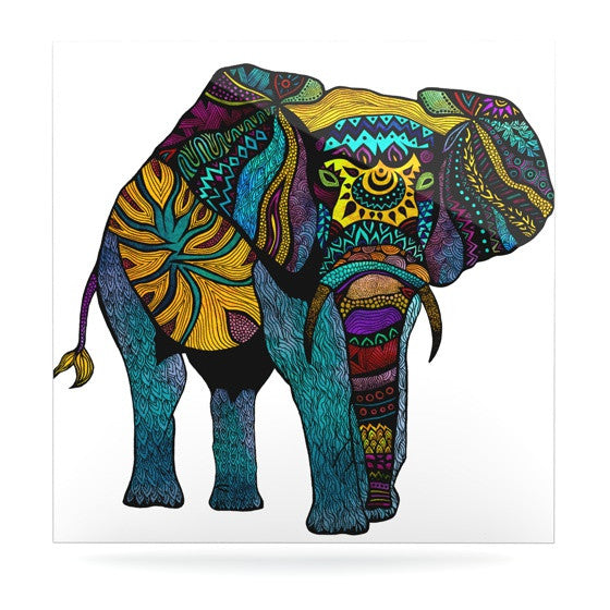 "Pom Graphic Design ""Elephant of Namibia"" Luxe Square Panel - KESS InHouse  - 1"