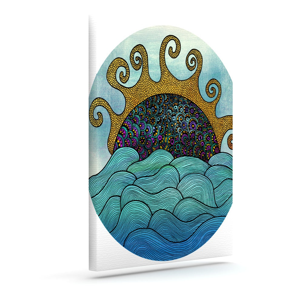 "Pom Graphic Design ""Oceania"" Outdoor Canvas Wall Art - KESS InHouse  - 1"