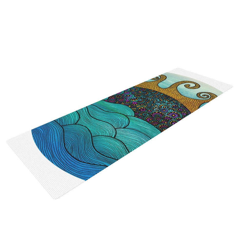"Pom Graphic Design ""Oceania"" Yoga Mat - KESS InHouse  - 1"