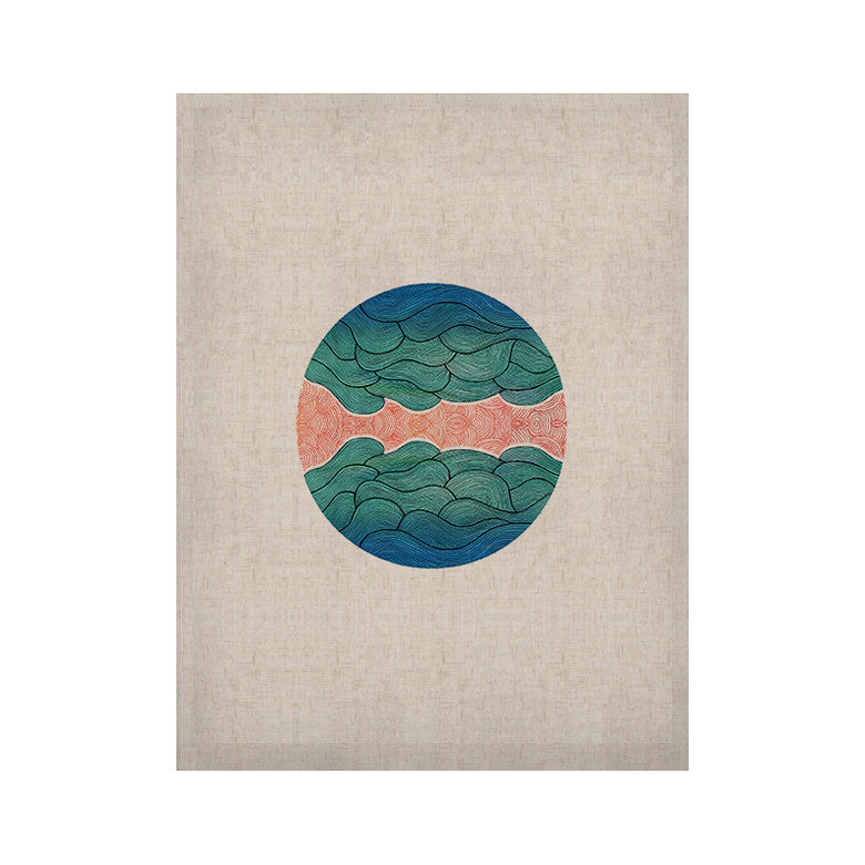 "Pom Graphic Design ""Ocean Flow"" KESS Naturals Canvas (Frame not Included) - KESS InHouse  - 1"