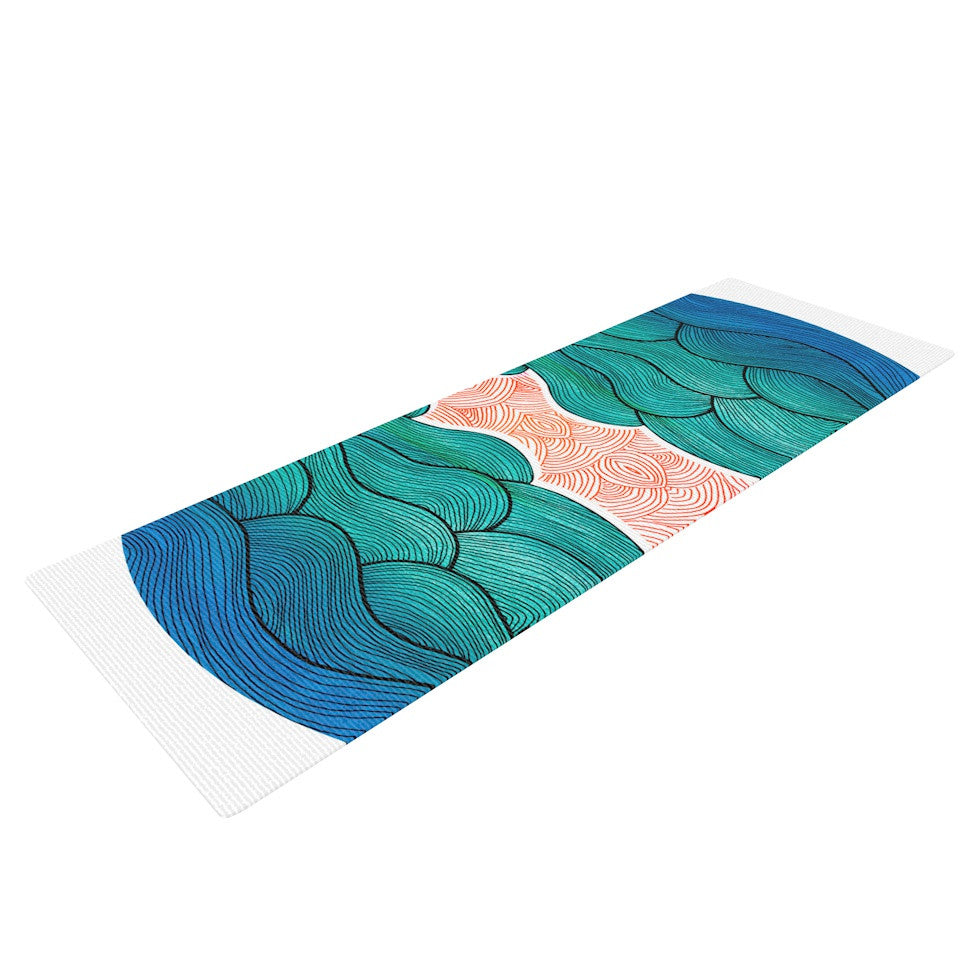 "Pom Graphic Design ""Ocean Flow"" Yoga Mat - KESS InHouse  - 1"