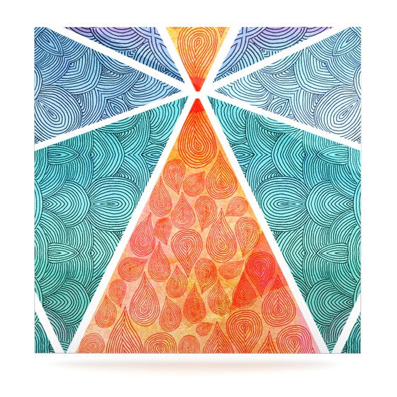 "Pom Graphic Design ""Pyramids of Giza"" Luxe Square Panel - KESS InHouse  - 1"