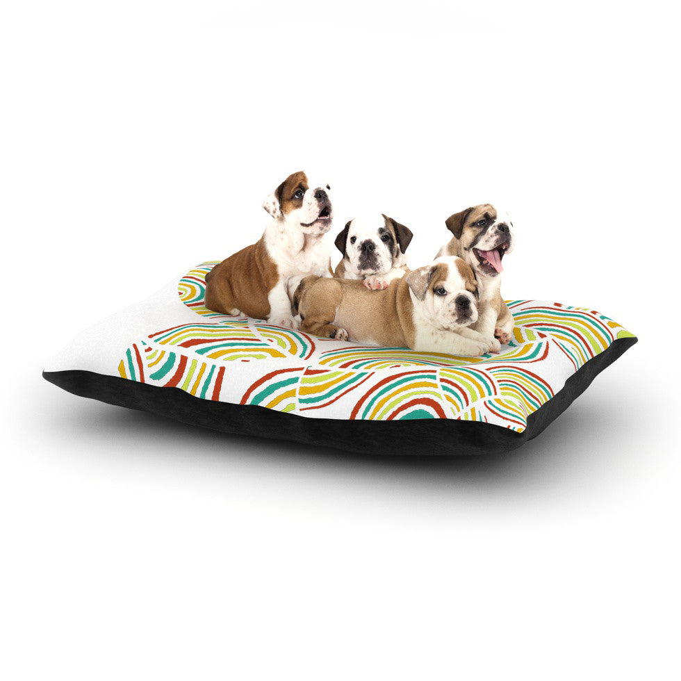 "Pom Graphic Design ""Rainbow Sky"" Dog Bed - KESS InHouse  - 1"
