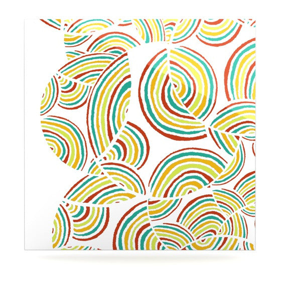 "Pom Graphic Design ""Rainbow Sky"" Luxe Square Panel - KESS InHouse  - 1"