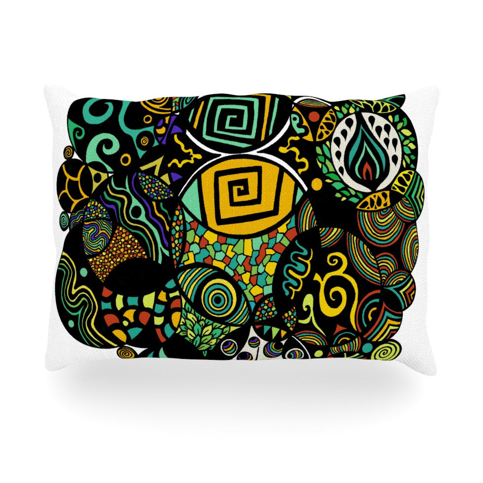 "Pom Graphic Design ""Multicolor Life"" Oblong Pillow - KESS InHouse"