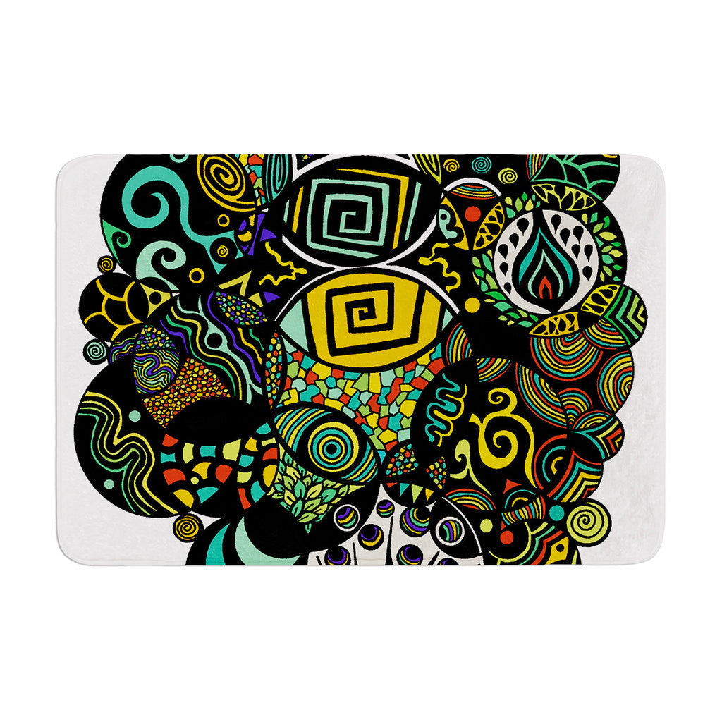 "Pom Graphic Design ""Multicolor Life"" Memory Foam Bath Mat - KESS InHouse"