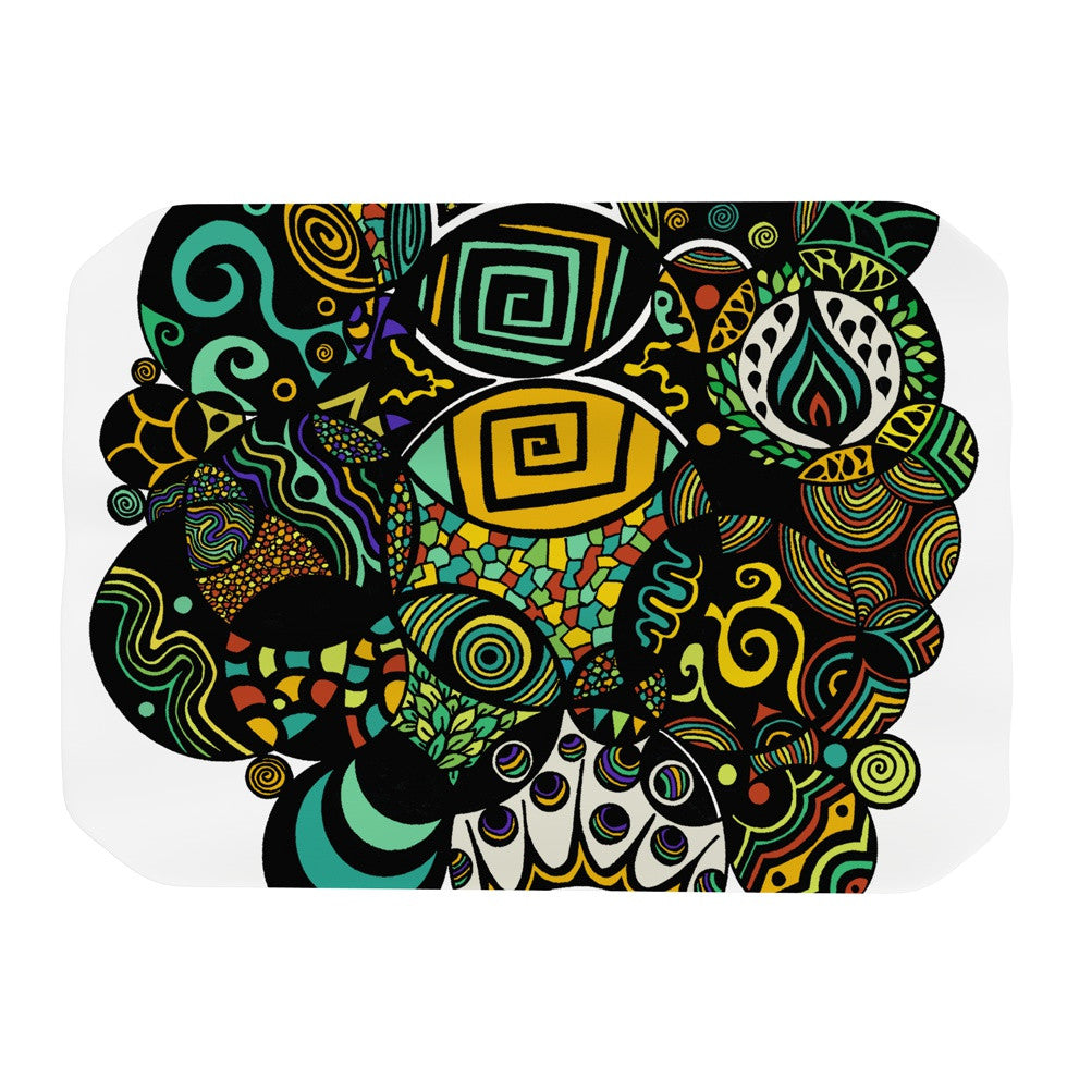 "Pom Graphic Design ""Multicolor Life"" Place Mat - KESS InHouse"