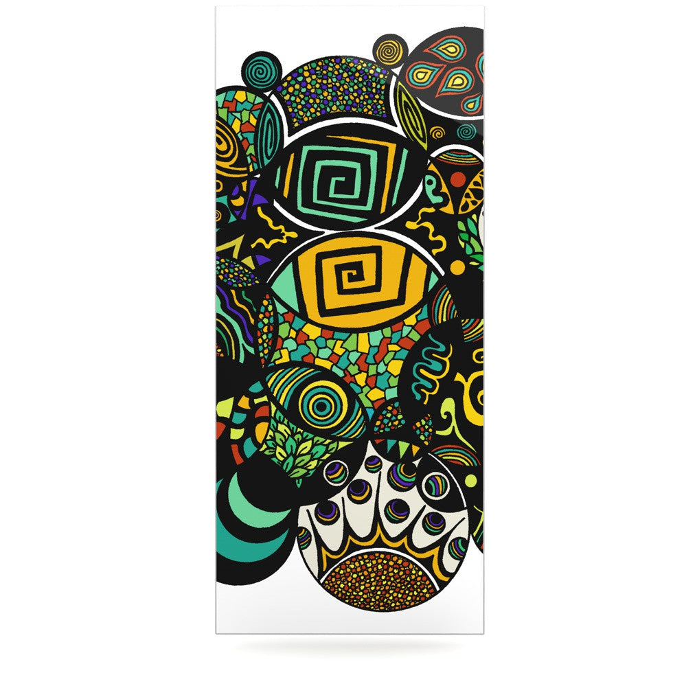 "Pom Graphic Design ""Multicolor Life"" Luxe Rectangle Panel - KESS InHouse  - 1"