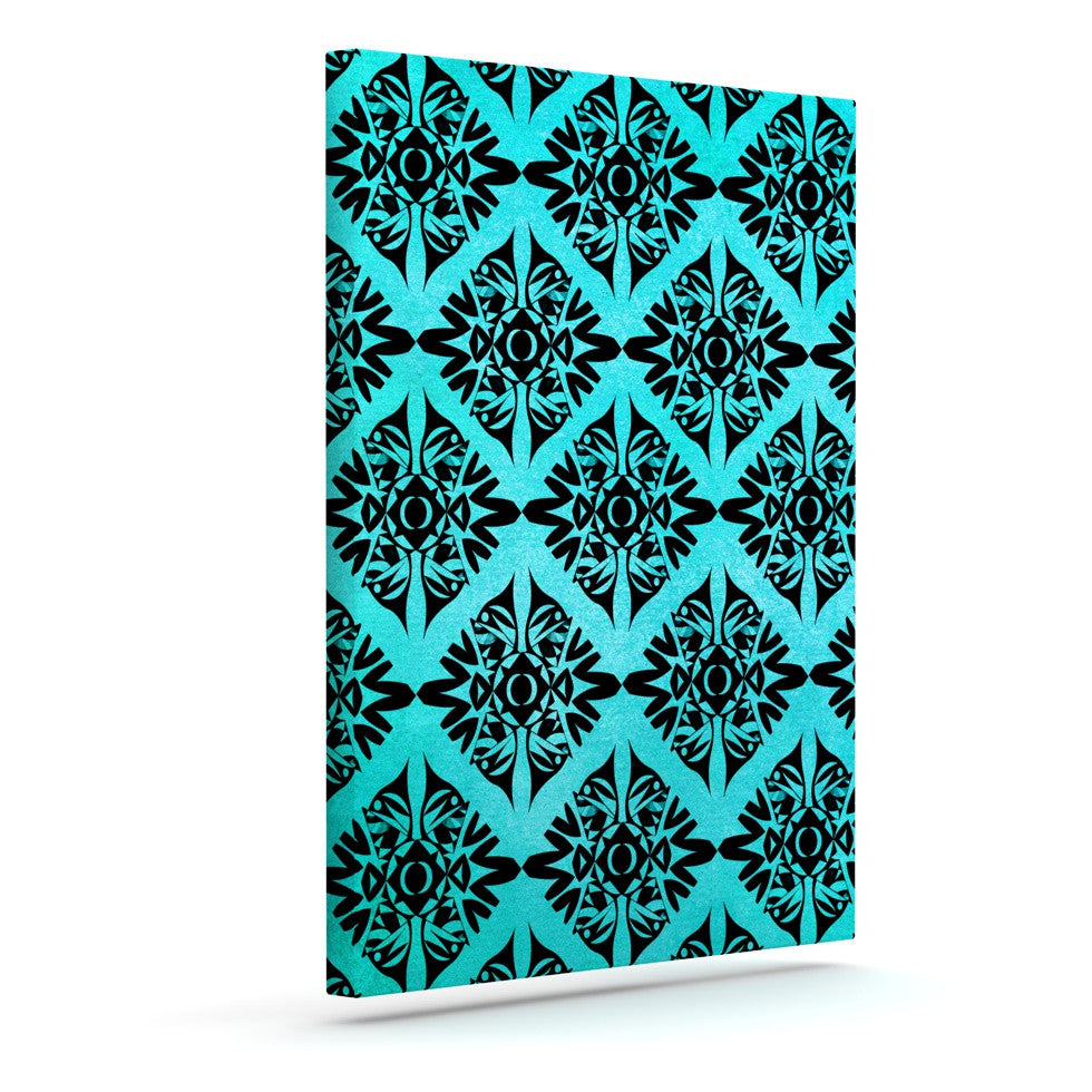 "Pom Graphic Design ""Eye Symmetry Pattern"" Outdoor Canvas Wall Art - KESS InHouse  - 1"