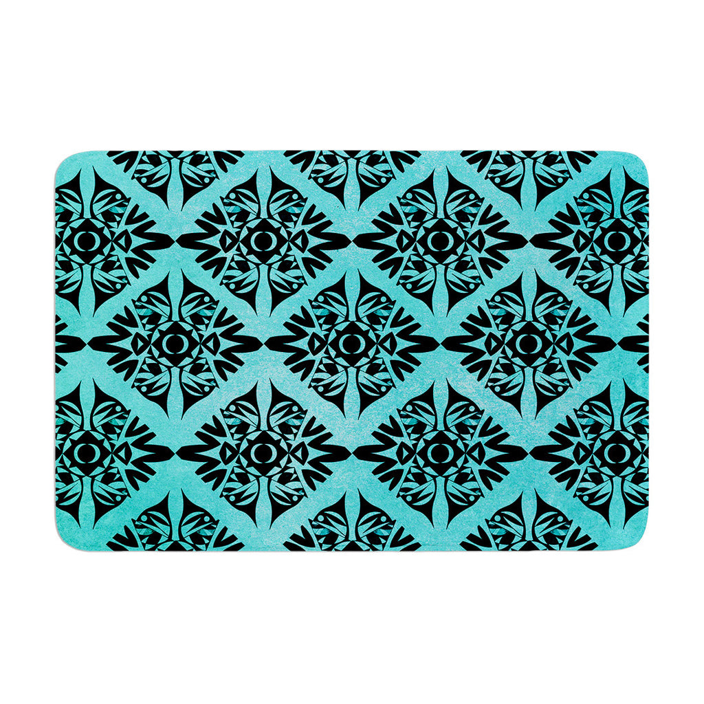 "Pom Graphic Design ""Eye Symmetry Pattern"" Memory Foam Bath Mat - KESS InHouse"