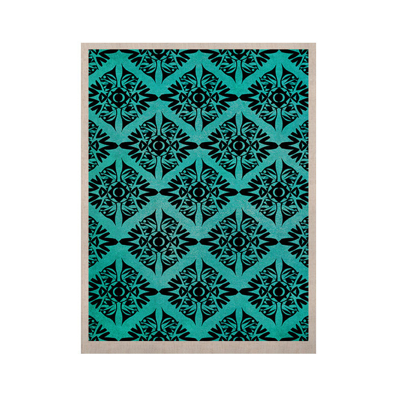 "Pom Graphic Design ""Eye Symmetry Pattern"" KESS Naturals Canvas (Frame not Included) - KESS InHouse  - 1"