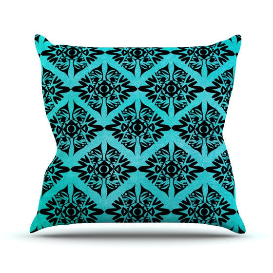 "Pom Graphic Design ""Eye Symmetry Pattern"" Outdoor Throw Pillow - KESS InHouse  - 1"