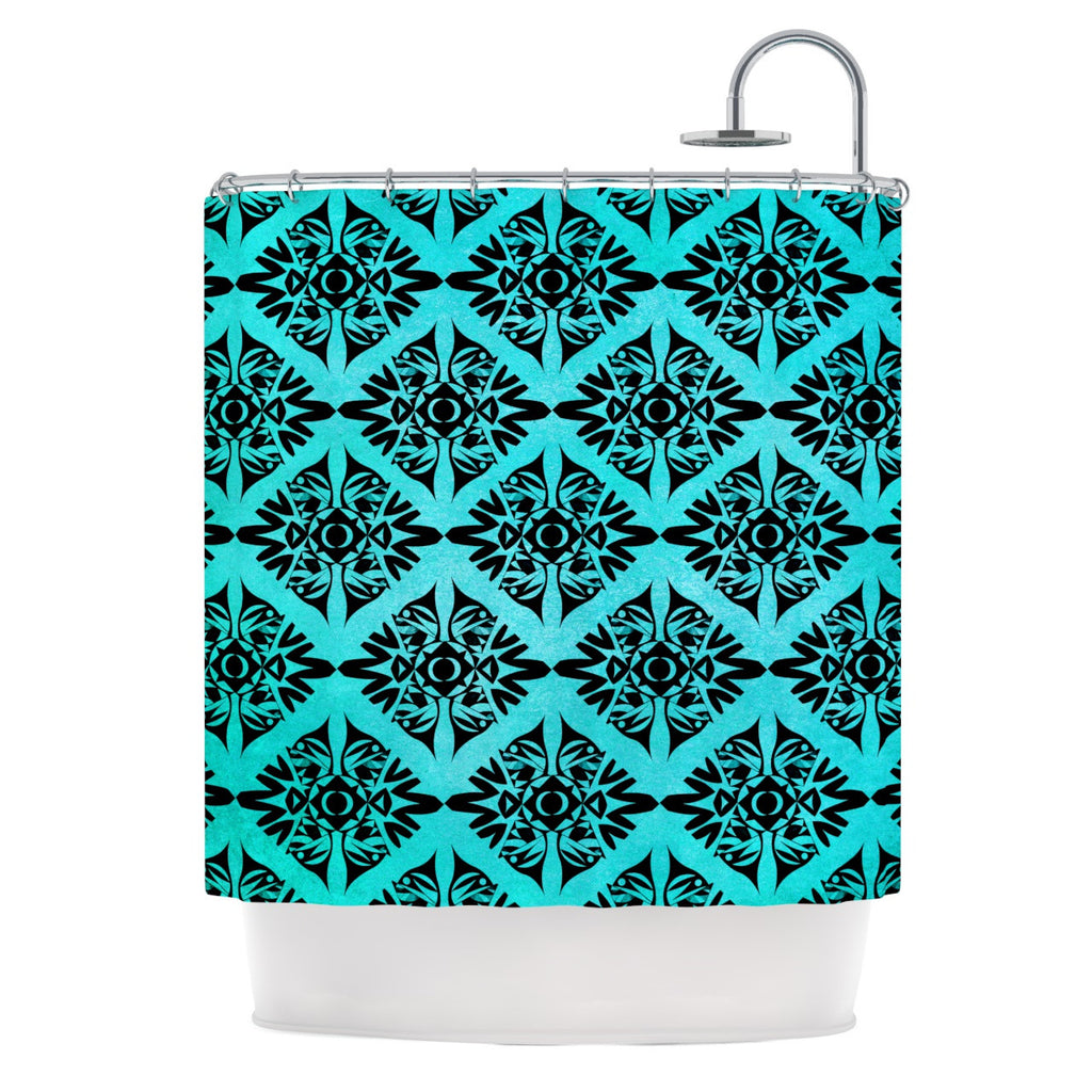 "Pom Graphic Design ""Eye Symmetry Pattern"" Shower Curtain - KESS InHouse"