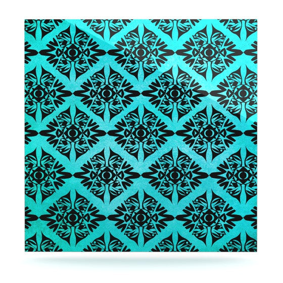 "Pom Graphic Design ""Eye Symmetry Pattern"" Luxe Square Panel - KESS InHouse  - 1"