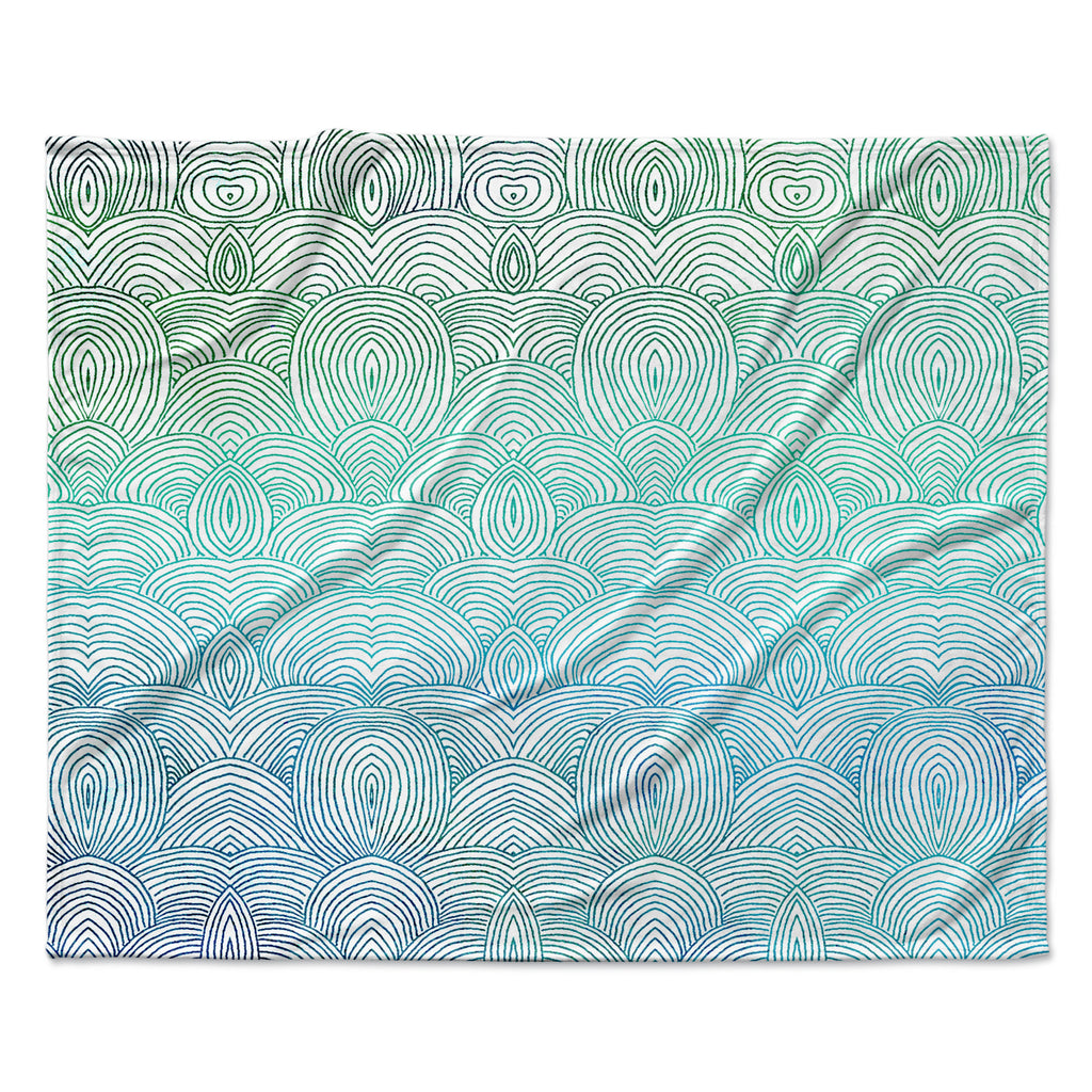 "Pom Graphic Design ""Clouds in the Sky"" Fleece Throw Blanket"