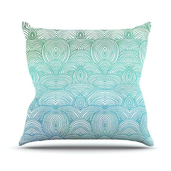"Pom Graphic Design ""Clouds in the Sky"" Outdoor Throw Pillow - KESS InHouse  - 1"