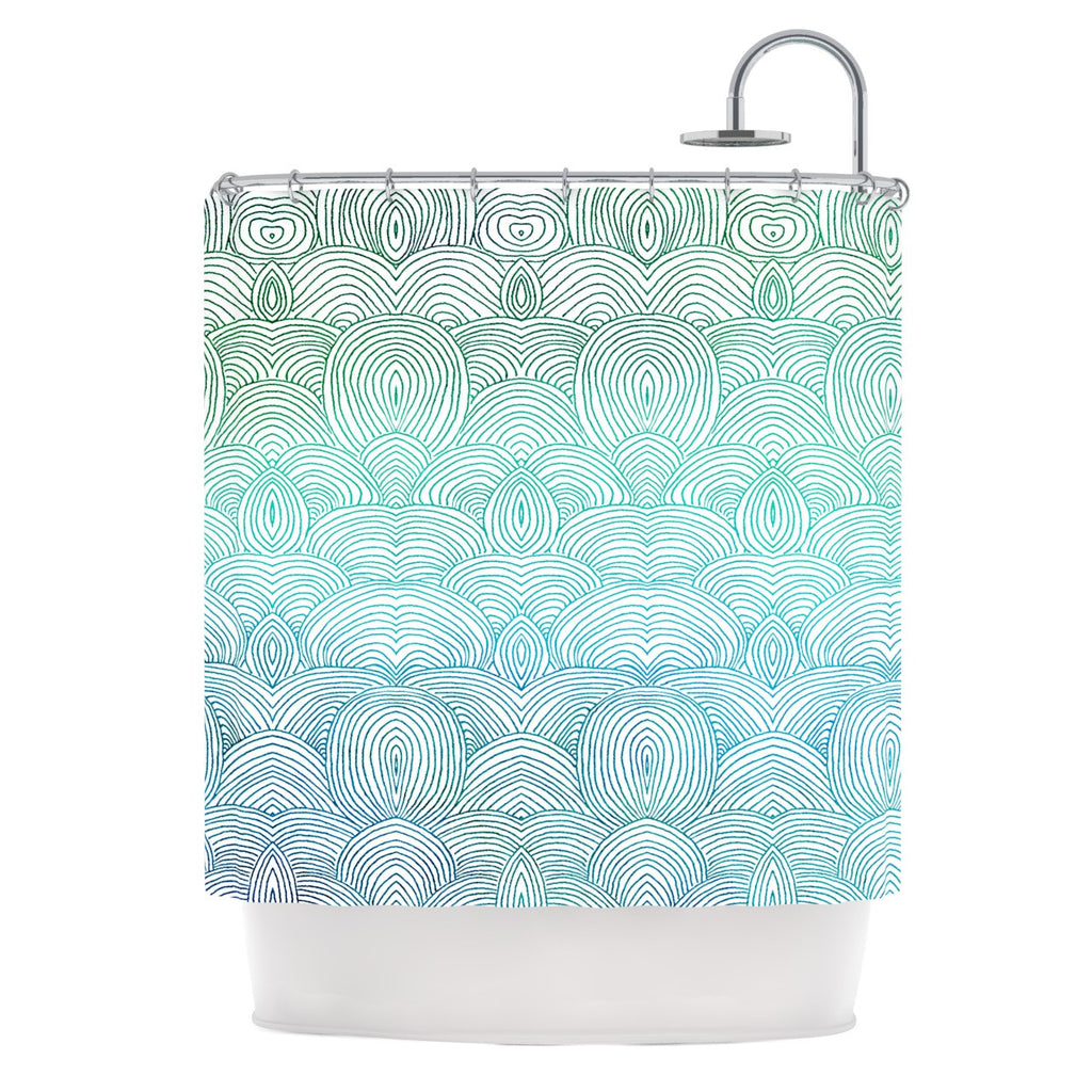 "Pom Graphic Design ""Clouds in the Sky"" Shower Curtain - KESS InHouse"
