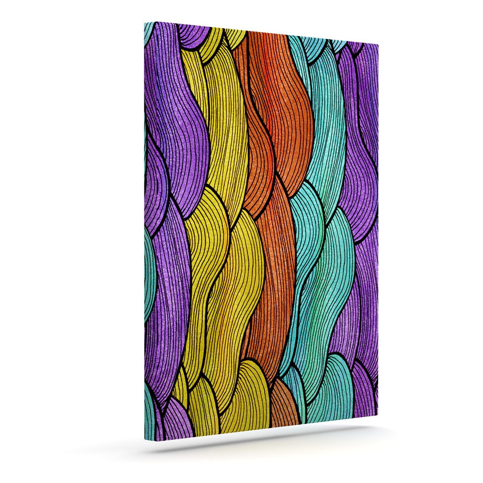 "Pom Graphic Design ""Textiles"" Outdoor Canvas Wall Art - KESS InHouse  - 1"