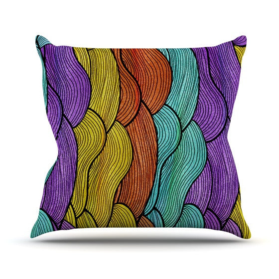 "Pom Graphic Design ""Textiles"" Throw Pillow - KESS InHouse  - 1"