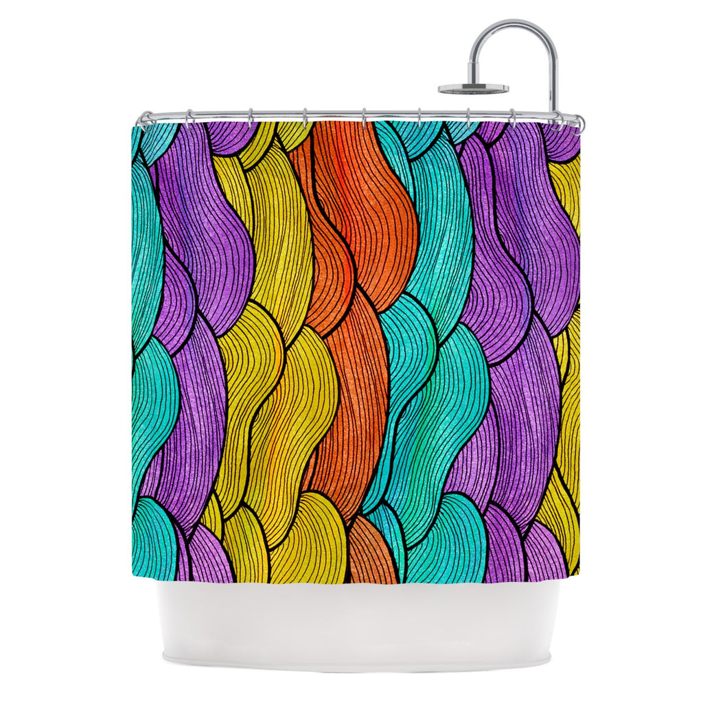 "Pom Graphic Design ""Textiles"" Shower Curtain - KESS InHouse"