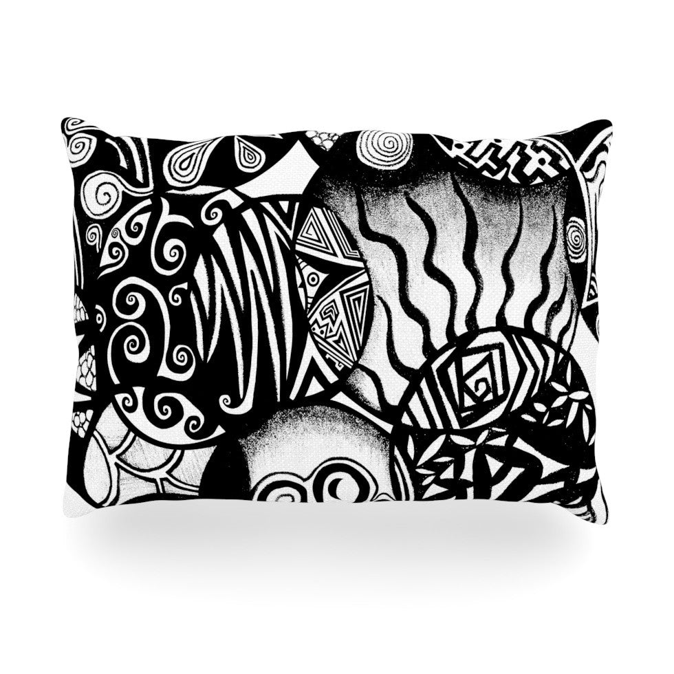 "Pom Graphic Design ""Circles and Life"" Oblong Pillow - KESS InHouse"