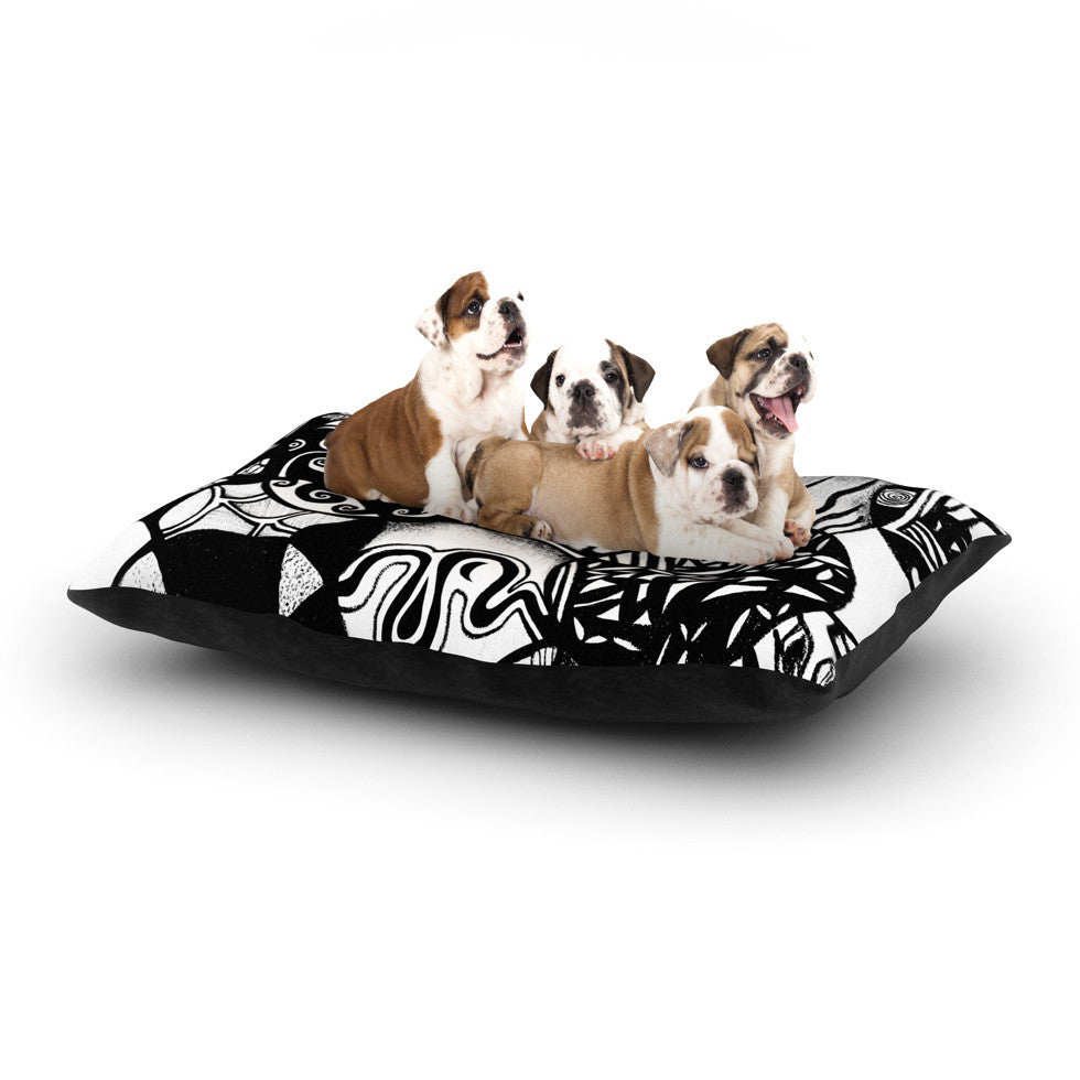 "Pom Graphic Design ""Circles and Life"" Dog Bed - KESS InHouse  - 1"