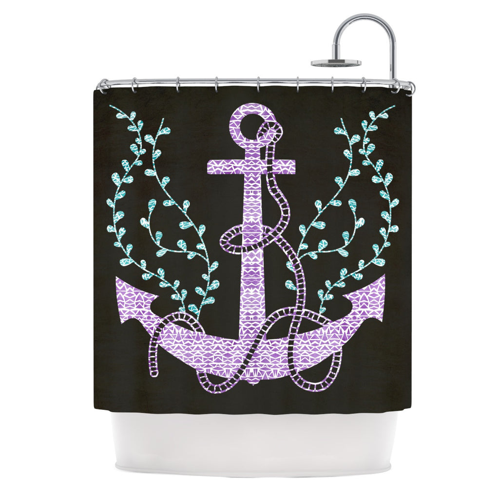 "Pom Graphic Design ""Tribal Nautica I"" Shower Curtain - KESS InHouse"