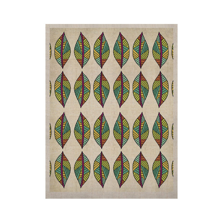 "Pom Graphic Design ""Tribal Leaves"" KESS Naturals Canvas (Frame not Included) - KESS InHouse  - 1"