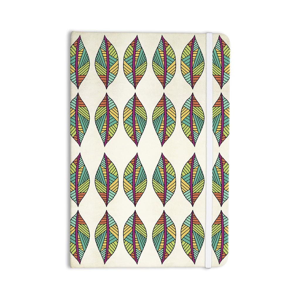 "Pom Graphic Design ""Tribal Leaves"" Everything Notebook - KESS InHouse  - 1"