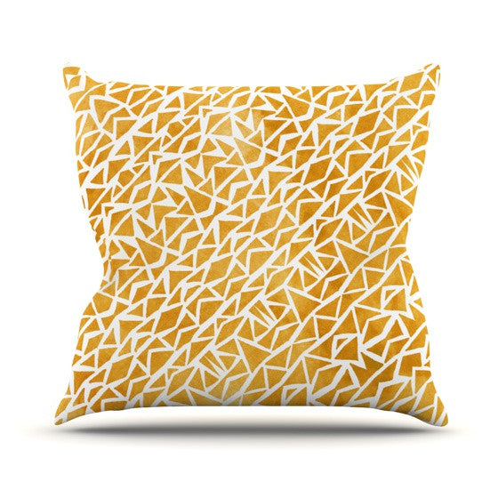 "Pom Graphic Design ""Tribal Origin"" Throw Pillow - KESS InHouse  - 1"