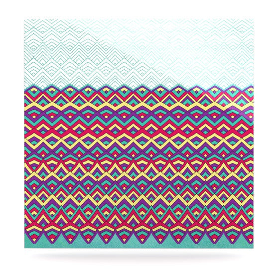 "Pom Graphic Design ""Horizons"" Luxe Square Panel - KESS InHouse  - 1"