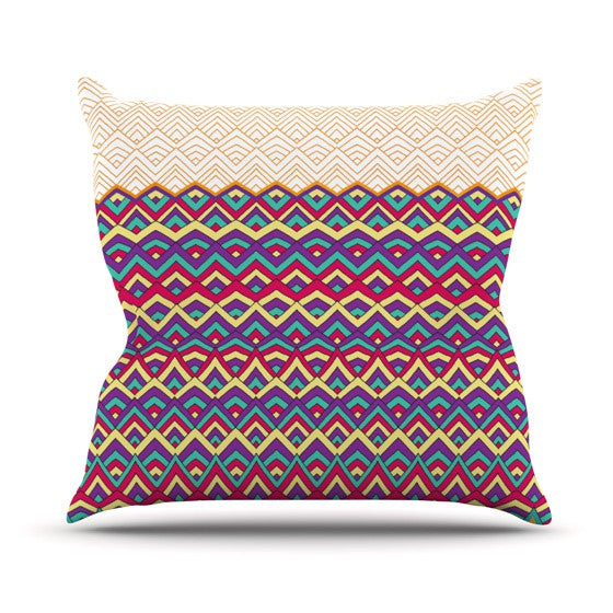 "Pom Graphic Design ""Horizons III"" Throw Pillow - KESS InHouse  - 1"