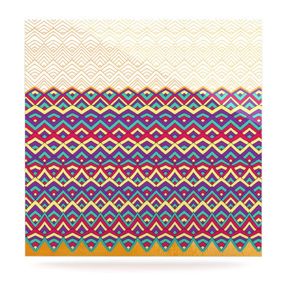 "Pom Graphic Design ""Horizons III"" Luxe Square Panel - KESS InHouse  - 1"