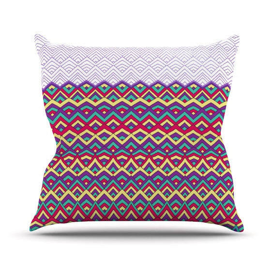 "Pom Graphic Design ""Horizons II"" Outdoor Throw Pillow - KESS InHouse  - 1"