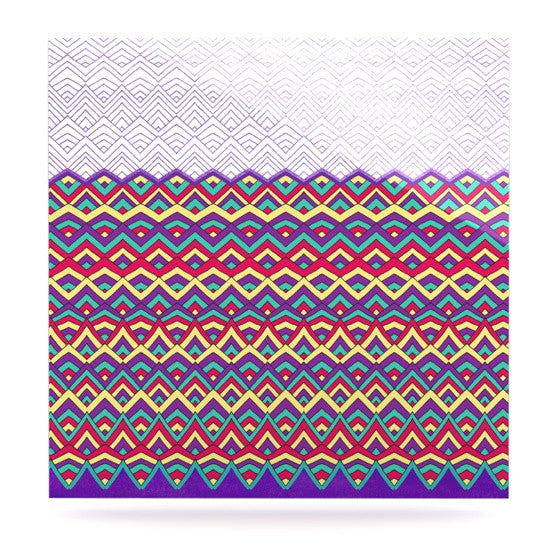 "Pom Graphic Design ""Horizons II"" Luxe Square Panel - KESS InHouse  - 1"