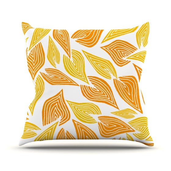 "Pom Graphic Design ""Autumn"" Outdoor Throw Pillow - KESS InHouse  - 1"