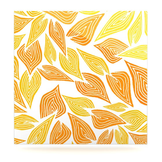 "Pom Graphic Design ""Autumn"" Luxe Square Panel - KESS InHouse  - 1"