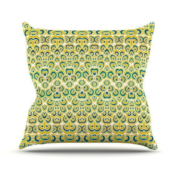 "Pom Graphic Design ""Animal Temple"" Outdoor Throw Pillow - KESS InHouse  - 1"