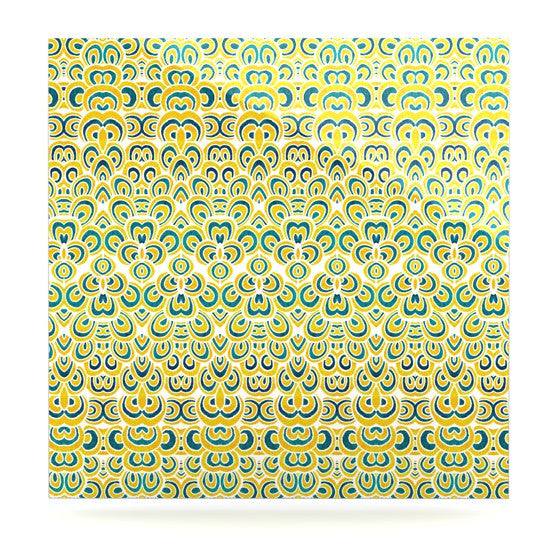 "Pom Graphic Design ""Animal Temple"" Luxe Square Panel - KESS InHouse  - 1"