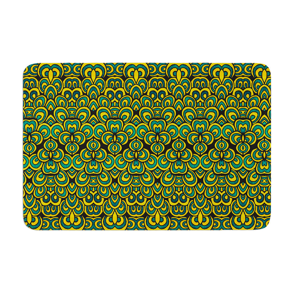 "Pom Graphic Design ""Animal Temple II"" Memory Foam Bath Mat - KESS InHouse"