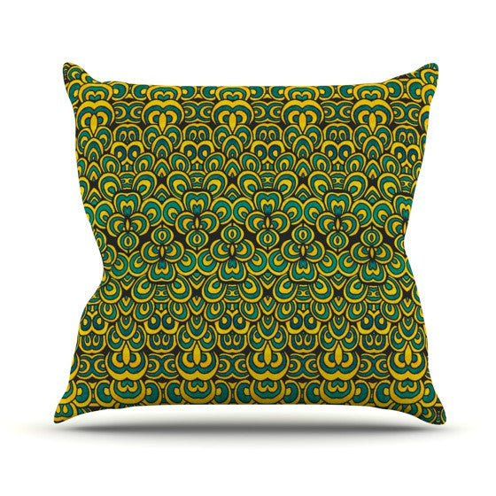 "Pom Graphic Design ""Animal Temple II"" Outdoor Throw Pillow - KESS InHouse  - 1"