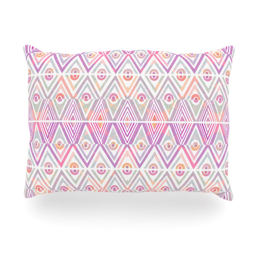 "Pom Graphic Design ""Soft Petal Tribal"" Oblong Pillow - KESS InHouse"