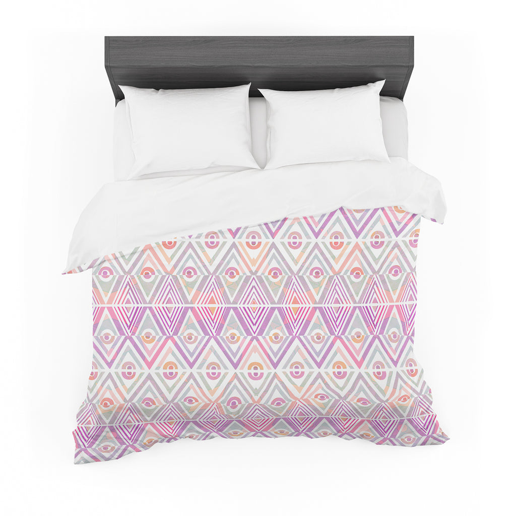 "Pom Graphic Design ""Soft Petal Tribal"" Cotton Duvet"