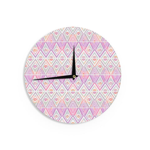 "Pom Graphic Design ""Soft Petal Tribal"" Wall Clock - KESS InHouse"