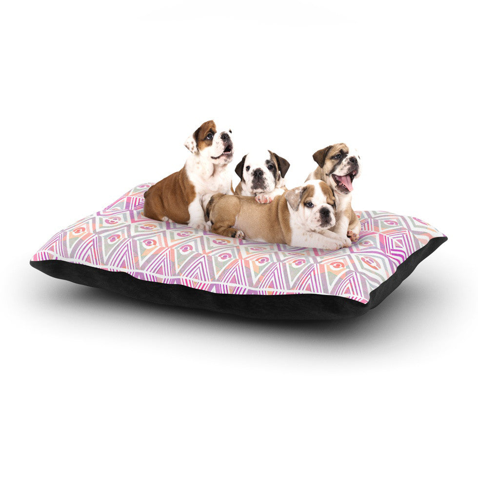 "Pom Graphic Design ""Soft Petal Tribal"" Dog Bed - KESS InHouse  - 1"