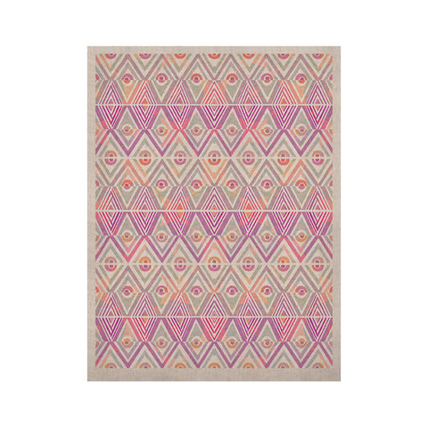 "Pom Graphic Design ""Soft Petal Tribal"" KESS Naturals Canvas (Frame not Included) - KESS InHouse  - 1"