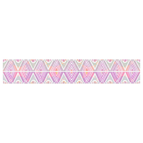 "Pom Graphic Design ""Soft Petal Tribal"" Table Runner - KESS InHouse  - 1"